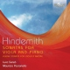 Hindemith, P. Sonatas For Viola & Piano