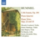 Hummel, J.n. Cello Sonata/Piano Quarte