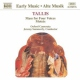 Tallis, T. Mass For Four Voices/Mote