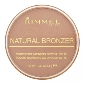 Rimmel London: Natural Bronzer Waterproof Bronzing Powder SPF15  /022 Sun Bronze/ - make-up 14g (žena)