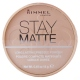 Rimmel London Rimmel London: Stay Matte Long Lasting Pressed Powder  /001 Transparen