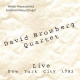 Bromberg, David -quartet- Live New York City 1982
