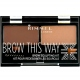 Rimmel London: Brow This Way Scuplting Kit  /003 Dark Brown/ - o�n� li