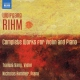 Rihm, W. Complete Works For Violin